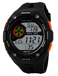 SKMEI® Men's Sporty Watch Digital LCD Display Calendar/Chronograph/Alarm/Water Resistant Cool Watch Unique Watch