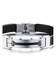 z&ícones de estilo da moda X® homens com alto grau de pulseira de couro h mão