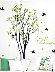 grand arbre sticker mural PVC amovible environnement