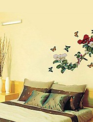 Chinese Style Flower & Bird PVC Wall Sticker