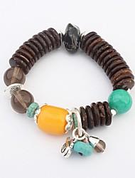 Women's Fashion Beads Pendant Cluster Stretchy Wrist Chain Bracelets