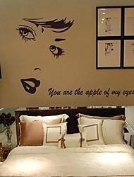 окружающей среды съемный стикер Монро стены PVC