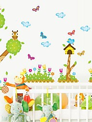 Wall Stickers Wall Decal Cartoon Trees Feature Removable Washable PVC