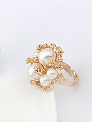 Ring Fashion Party Jewelry Alloy / Imitation Pearl Women Statement Rings 1pc,One Size Gold
