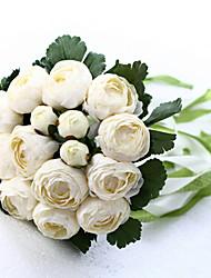 wedding bouquet de mariage mariée tenant des fleurs, colth de soie simulation camélia blanc
