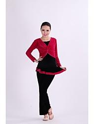 vestidos de danza folclórica&arco rendimiento / formación modal faldas de las mujeres (s) 2 piezas fucsia