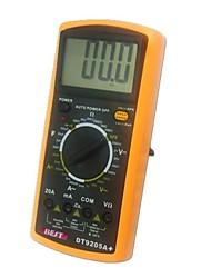 dt9205m профессиональный портативный ЖК-экран цифровой мультиметр AC / DC вольт ампер Ом электрический счетчик