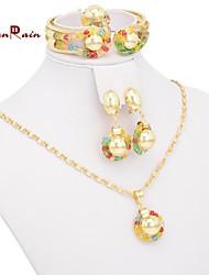 brincos de pingente de colar pulseiras anéis de mulheres para mulheres casamento roupa bridal conjuntos de jóias