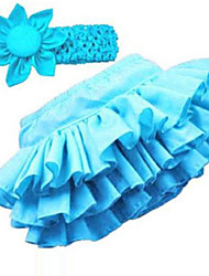 Girl's Summer/Spring/Fall Micro-elastic Medium Sleeveless Skirts (Cotton)