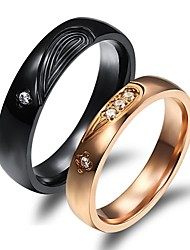 LOVE Luxury Classic Puzzle Love Couples Together Never Part Titanium Steel Ring Promis rings for couples
