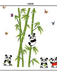 Lovely Panda on Bamboo PVC Wall Stickers