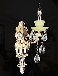 Crystal Wall Lamp 1 Light Modern Zinc Alloy Jade-like Resin and Crystal