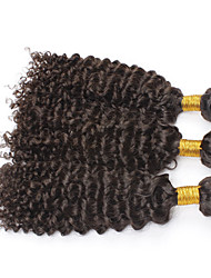 "3pcs/lot 8""-28""Brazilian Curly Virgin Hair 300g/Lot Afro Curl Kinky Curly Human Hair Extensions"