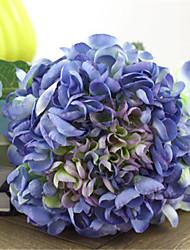 di lusso di grandi dimensioni hyfrangeas zaffiro fiori artificiali