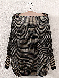 Sharon Women's Casual Round Collar Cut Out Sweater