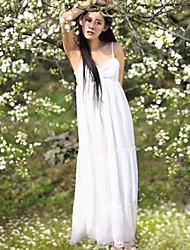 Women's Elastic Sleeveless Maxi Dress