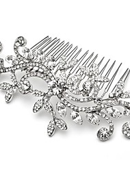 Wedding Party Bridal Bridesmaid Crystal Leaf Hair Combs