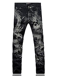 Men's Print Pant , Cotton/Denim Casual