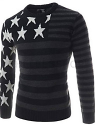 Primce Men's V-Neck Sweaters , Cotton Blend Long Sleeve Casual / Work Fashion Winter / Fall Primce