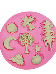 Cute Animal Plant Silicone Mould Cake Decorating Silicone Mold For Fondant Candy Crafts Jewelry PMC Resin Clay