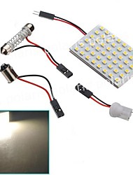 2pcs 48SMD 1210 White Light 12V LED Reading Panel Car Interior Dome Light