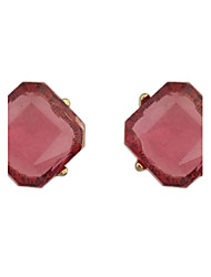 Women's Elegant Clear Acrylic Square Stud Earrings