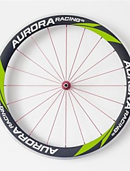 AURORA RACING 700c Road 50mm Carbon Clincher Road Bicycle Wheels with Alloy Brake