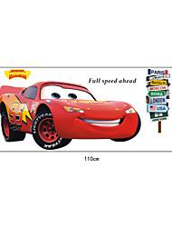 carros dos desenhos animados de parede Relâmpago McQueen pvc adesivos