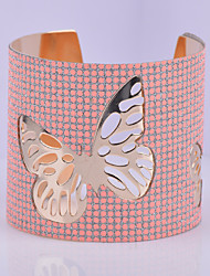 D Exceed Women's Bracelet Fashion Silver Plated Wide Bracelet Round Dot Pattern Hollow Out Butterfly Scrub Cuff Bangles