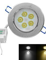jiawen® 5W 450-500lm 3000-3200K / 6000-6500K warmes weißes / weißes Licht geführt receseed Lichter (AC 100-240V)