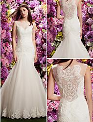Lanting Trumpet/Mermaid Wedding Dress - Ivory Court Train Jewel Lace