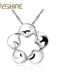 JOYshine s925 Silver Plum Flower Pendant Silver Necklace