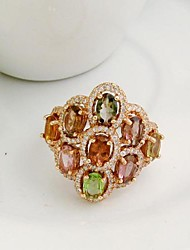 925 silver Tourmaline Ring Gemstone