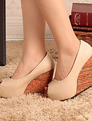 Women's Shoes Wedge Heel Peep Toe Pumps with Split Joint Shoes More Colors available