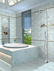 Grifo de ducha - Contemporáneo - Alcachofa incluida/De pie - Latón ( Cromo )