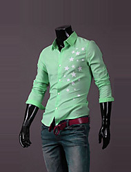 l'impression de star de la mode / chemise à manches longues pour hommes