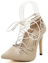 Vinda Women's Shoes Black/Almond Stiletto Heel 10-12cm Pumps/Heels (PU)