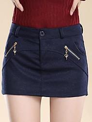JUPE (Mélange de laine) Au dessus des genoux - Style - Moyen