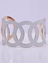 D Exceed Women's Bracelet Jewelry Gold Plated Wide Bracelet Hollow Out Scrub Handmade Cuff Bracelets