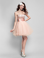 Robe de bal sweetheart short / mini tulle robe de bal avec perles by ts couture®