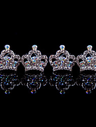 Hot Alloy Hairpins With Rhinestone Wedding/Party Headpiece(Set of 4)