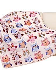 Flannel Baby Blanket 100*140cm Peony Man Brand White Owl Cartoon Soft Blankets Child Sheet Thick Warm Fleece Cobertor