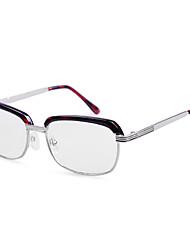 [Free Lenses] Metal Browline Half-Rim Fashion Reading Eyeglasses