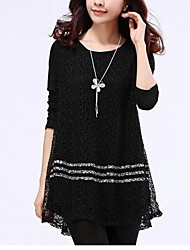 Women's Net Plus Sizes Long Sleeve  Cotton  Dress