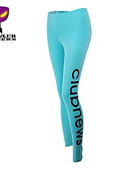 CLUBNEWS™Women's Cotton Blue Fashion Love Fitness Pattern Sports Legging02