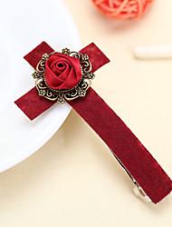 High Grade Wine Red Cross Female Cloth Headdress Hairpin