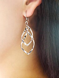 Fashion Office Lady Loving Drops Distorted Connected Ring Earrings