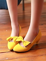 Women's Shoes Fleece Chunky Heel Pointed Toe Pumps Shoes  with Bowknot Dress More Colors available