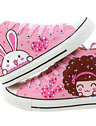Girls' Shoes Round Toe Flat Heel Canvas Fashion Sneakers Shoes More Colors available