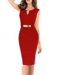 Xgenius Women's Casual Round Short Sleeve Dresses